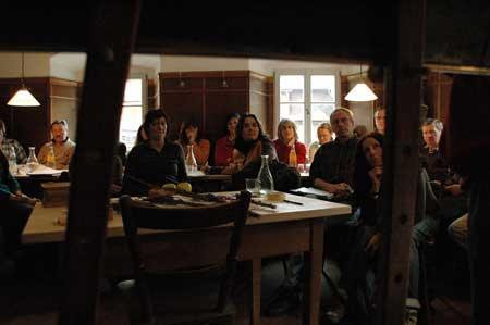 Baumschnitt-Seminar in der Gaststube der Oedmühle