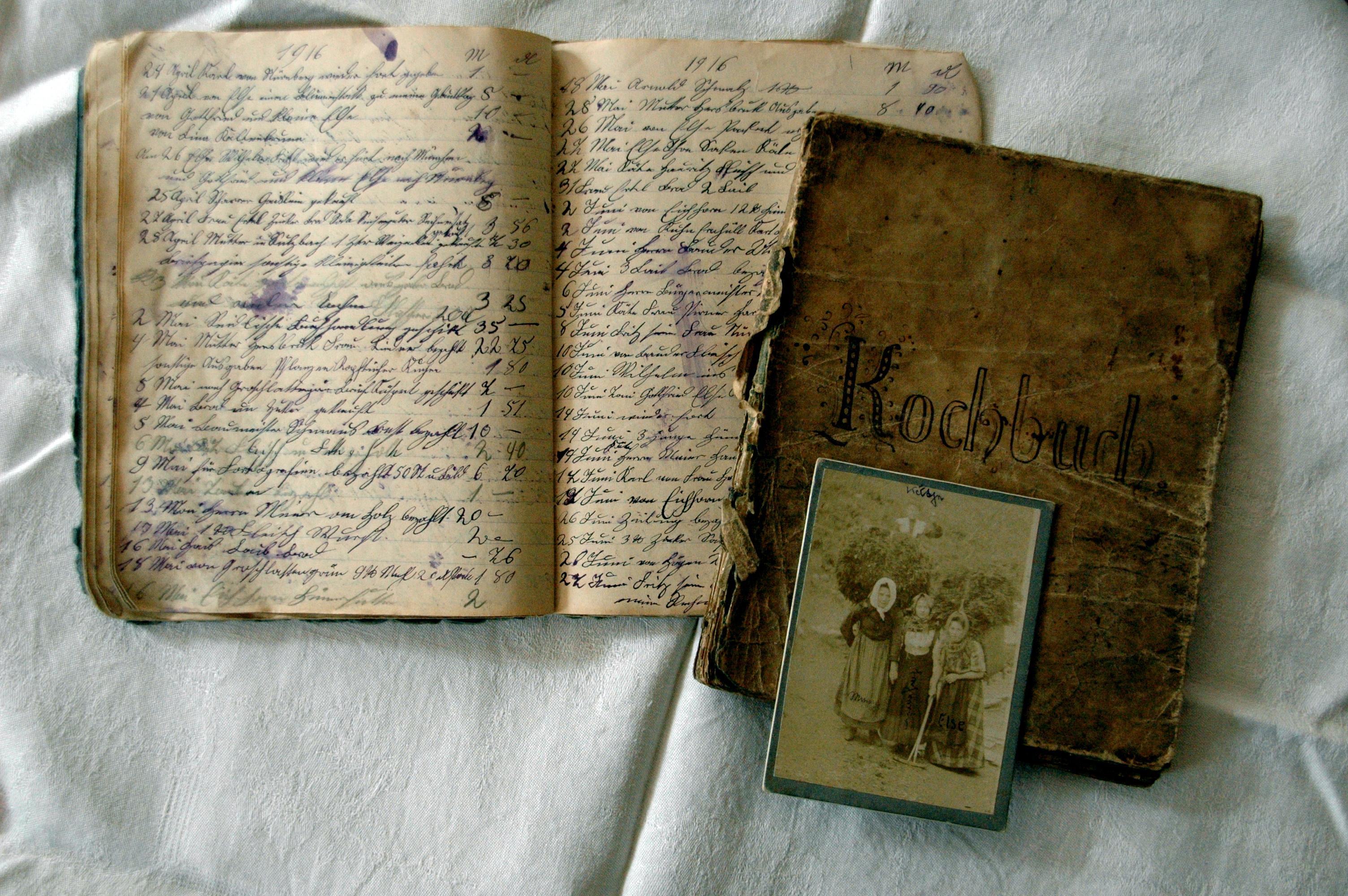 Alte handgeschriebene Kochbücher gesucht